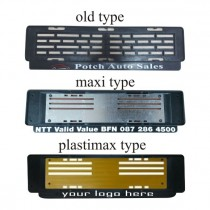 Number Plates Holders